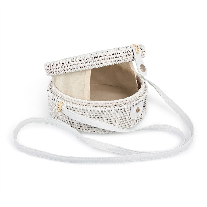 Tessa Design Star Wicker Bag | White - KaryKase