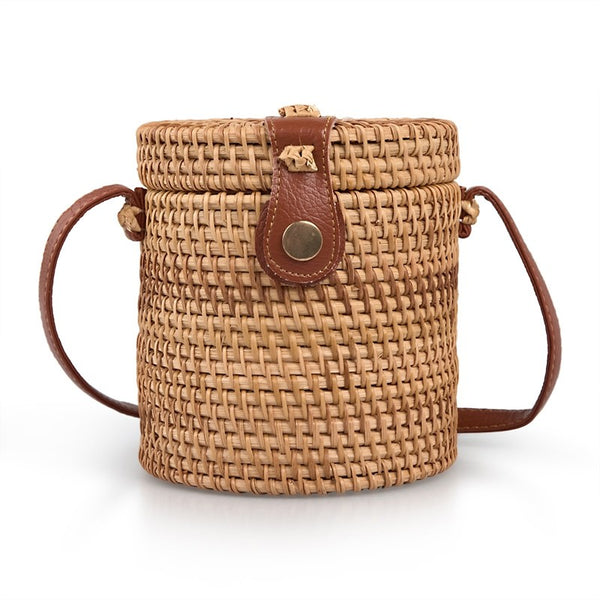 Tessa Design Wicker Bucket Bag - KaryKase