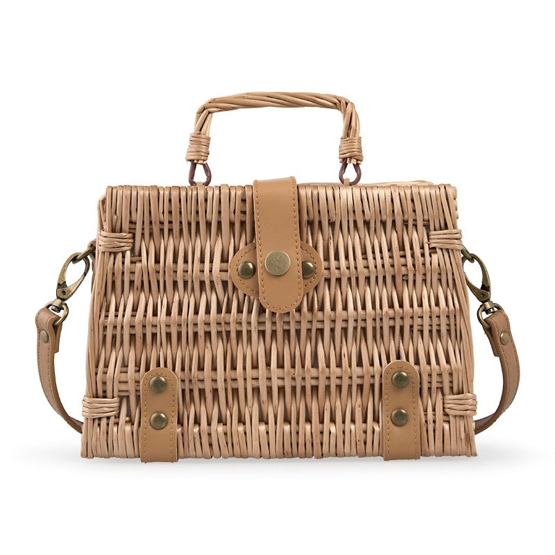 Tessa Design Wicker Suitcase Bag | Natural - KaryKase
