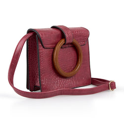 Tessa Design Wooden Handle Square Bag - KaryKase