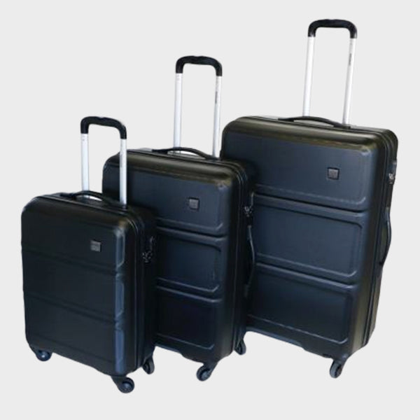 Tosca Elegant Vibe 3 Piece Luggage Trolley Set | Black