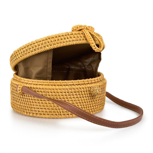 Tessa Design Round Wicker Bag | Natural - KaryKase