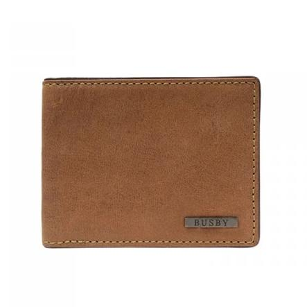 Busby Leather Zulu card Wallet | Brown