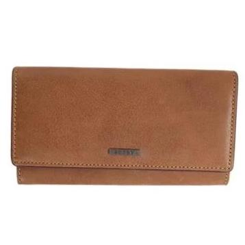 Busby Leather Ladies Zulu Clutch Purse | Brown - KaryKase