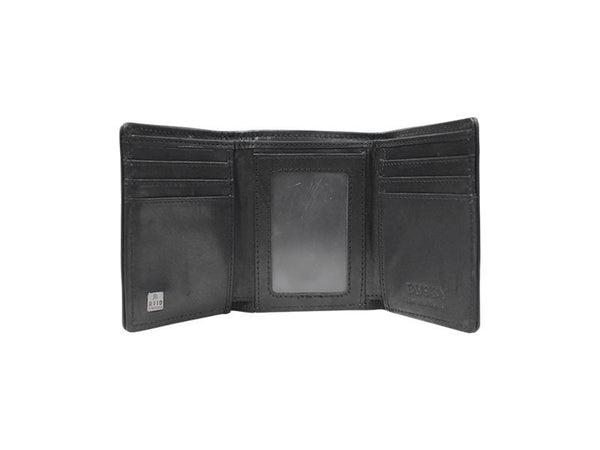 Busby Leather Zulu Trifold | Black