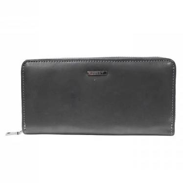 Busby Leather Ladies Zulu Zip Around Purse | Black - KaryKase