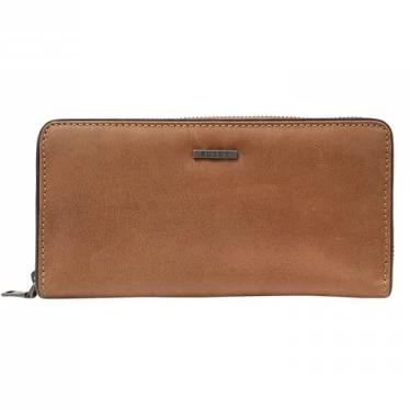 Busby Leather Ladies Zulu Zip Around Purse | Brown - KaryKase