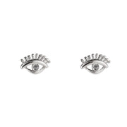 Queen Eye Ohrstecker Silber