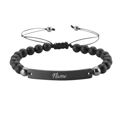 Black Beads Armband Schwarz