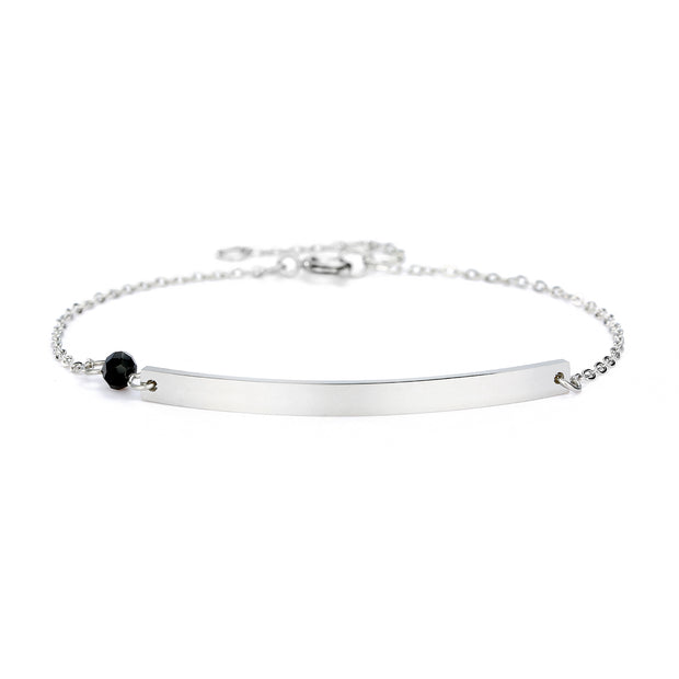 Gravur Armband Pearl Silber (40x3mm)