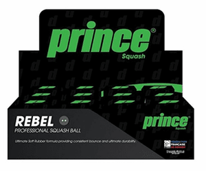 Prince Rebel Double Yellow Dot Squash Ball
