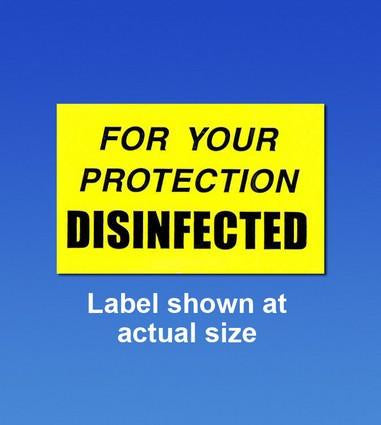 PAL1951 - OSHA Compliance Labels, Disinfected, 250/roll