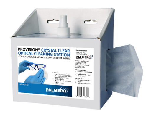 PAL3535 - ProVision® Crystal Clear Optical Lens Cleaning Station (8 oz. spray and 600 dry wipes)