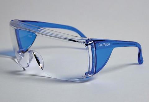 PAL3556B - ProVision® End-Fog Eyewear, Blue Frame, Clear Lens