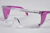 PAL3556P - ProVision® End-Fog Eyewear, Purple Frame, Clear Lens