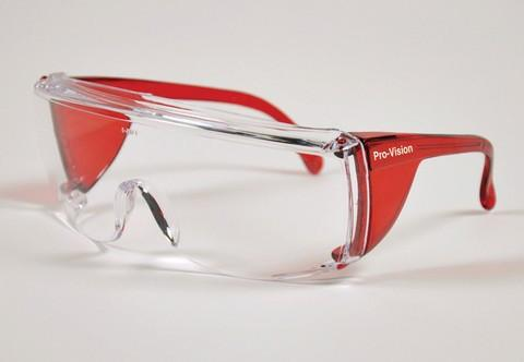 PAL3556R - ProVision® End-Fog Eyewear, Red Frame, Clear Lens