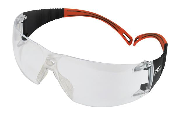 PAL3609OC - ProVision® Flexiwrap™, Black Frames / Orange Tips, Clear Lens