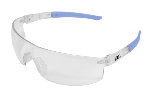 PAL3614CB - ProVision® Econo Tilts™, Clear Frame / Blue Tips, Clear Lens
