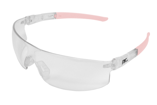PAL3614CQ - ProVision® Econo Tilts™, Clear Frame / Rose Quartz Tips, Clear Lens