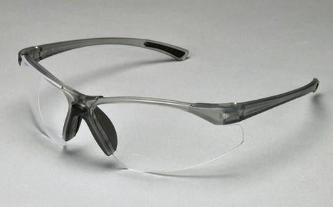 PAL3720C - ProVision® Tech Specs™ Bifocal, Grey Frame, Clear Lens, 2.0 Diopter
