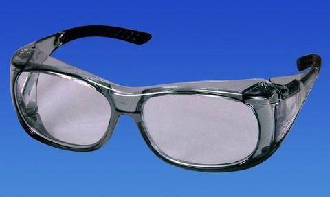 PAL3743 - Versi Overshields, Lightly Grey Frame w/Black Tips, Clear Lens