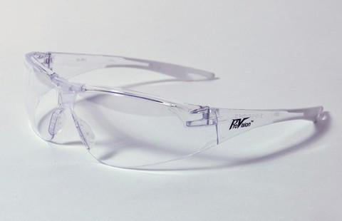 PAL3760CW - ProVision® Chic™ Eyewear, Clear Frame w/White Tips, Clear Lens