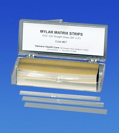 PAL0057 - Mylar Matrix Strips, Straight, 3/8in. x 4in., 5.8 microns thick, 1000/box