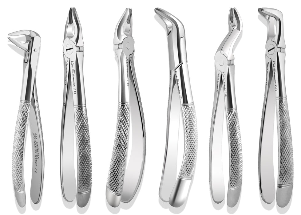 APICAL6 - Full Set of 6 Apical Retention Forceps