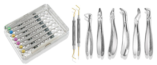 APICALKIT - Complete Set of Apical Instrumentation - Apical Retention Forceps, Proximators® & Periotomes