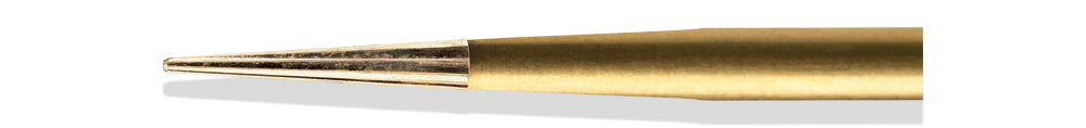 BCF0004EF - ExcaliBur Safe End Taper Carbide Gold Finishing Bur, Ø1.0mm x 4.0mm, FG, (US EF4), 5pcs.