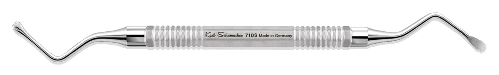 BCU0710S - Serrated Lucas Surgical Bone Curette #710S, 2.25mm Wide