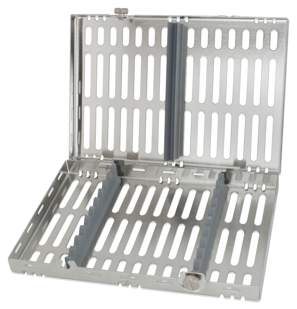CAS4001 - Stainless Steel Cassette #4001, Medium, Gray Inserts, 5.5 X 8 X 1.25 In.