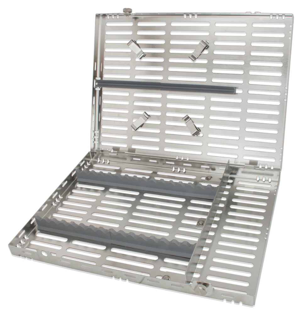 CAS6001 - Stainless Steel Cassette #6001, Large, Gray Inserts, 11 X 8 X 1.25 In.