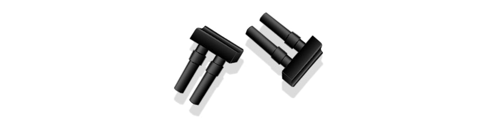 "CRE0000I - Replacement Black Silicone Tips for CRE0002 & 4, 1 Pr, ""Whiskers"""