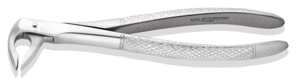EXE1174N - Narrow Lower Anterior Apical Retention Forceps #1174N, Subgingival Beak