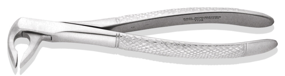 EXE1174 - Lower Universal Apical Retention Forceps #1174, Subgingival Beak