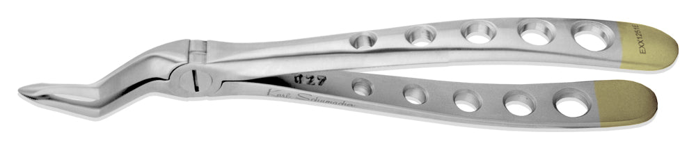 EXX1251ED - Spade Upper Root Forceps #1251ED, Serrated, Xcision, Diamond Coated