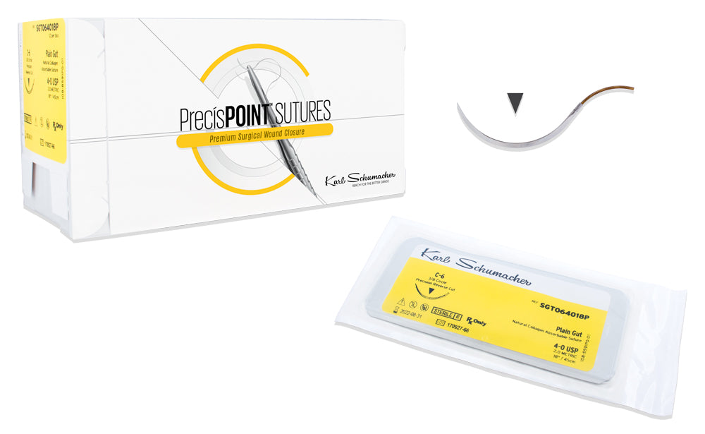 PrecísPOINT™ Surgical Plain Gut Sutures, 12/box.