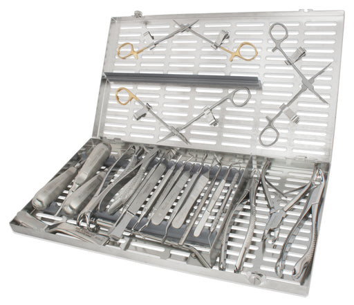 KIT0801 - Oral Surgery Kit #801, 24 Instruments w/ Extra Large Cassette