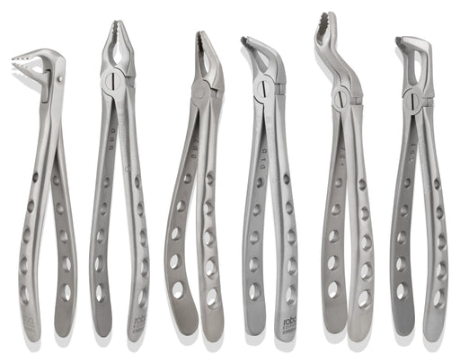 PGFSET6 - Full Set of 6 PrecísGrip Extraction Forceps, Standard Version