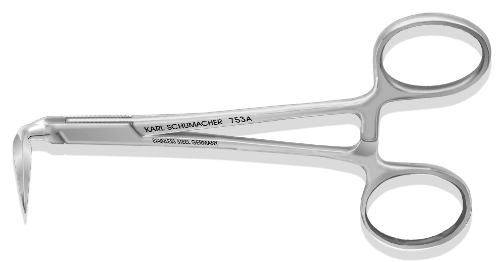 ROF0753A - Stieglitz Root Forceps #753A, Tapered Tips, 90º, 12cm