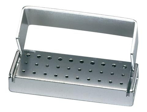 PAL0030CL - Anodized Aluminum Bur Block, 30 Hole, Right Angle Latch (RA)