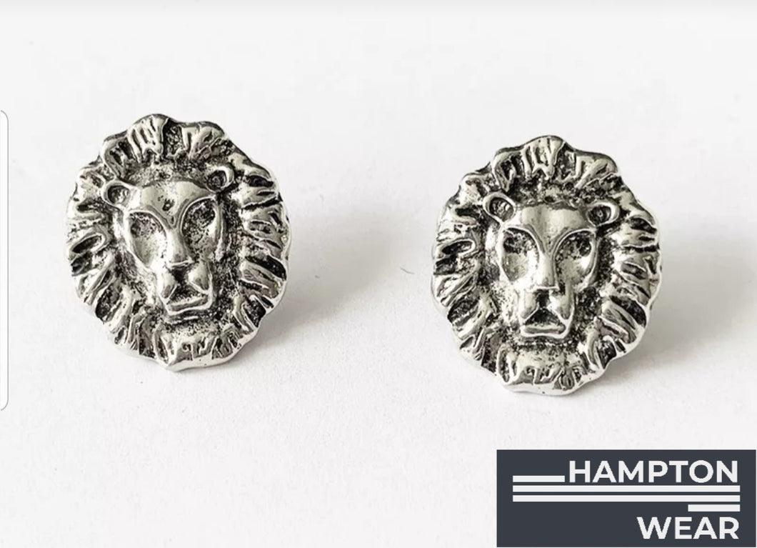 Lion Head Earrings