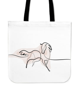 A Line Horse Cloth Tote Bag