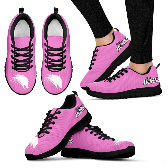 Love Horse - Pink Women's Sneakers