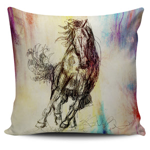 Fast Runner Horse Pillow Cover