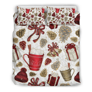 Gifts and Bells Christmas Bedding Sets