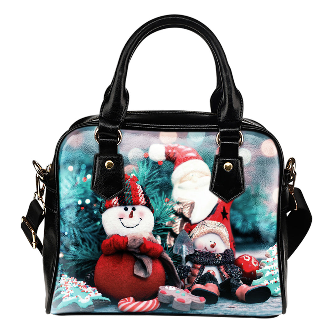 Snow Man Christmas Handbag