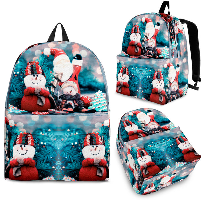 Snow Man with Santa Claus Christmas Backpack