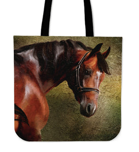 Noble Chestnut Horse Cloth Tote Bag